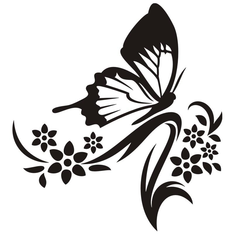 Wandtattoo Schmetterling Auf Stengel
