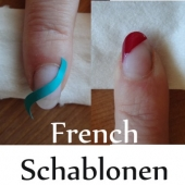 French und Maniküre Schablonen - Form: Welle